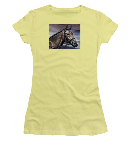 Women's T-Shirt (Junior Cut) featuring the photograph A Horse Called Zi by Brian Tarr