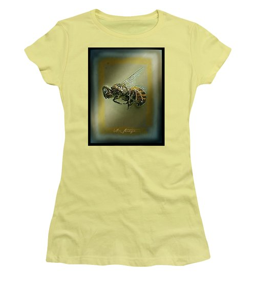 A Humble Bee Remembered Women's T-Shirt (Junior Cut) by Hartmut Jager