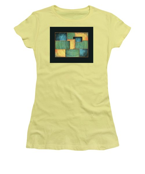 Women's T-Shirt (Junior Cut) featuring the painting A Light Well by Deborah Smith