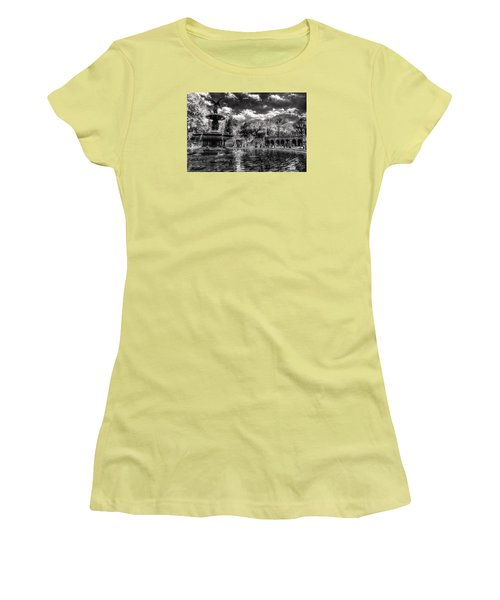 Women's T-Shirt (Junior Cut) featuring the digital art A Lily In Her Hand by William Fields