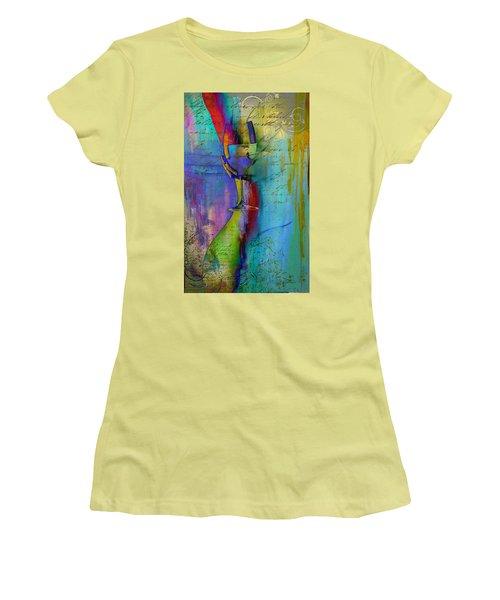 Women's T-Shirt (Junior Cut) featuring the digital art A Little Wining by Greg Sharpe