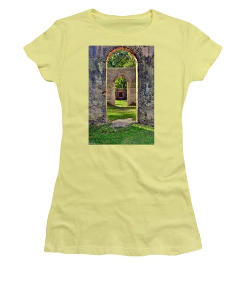 A Look Through Chapel Of Ease St. Helena Island Beaufort Sc Women's T-Shirt (Athletic Fit)