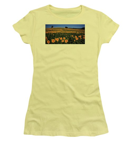 Women's T-Shirt (Junior Cut) featuring the photograph A Lot Of Birdseed  by Chris Berry