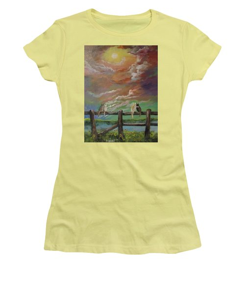 A Springtime Lovers Moon Women's T-Shirt (Athletic Fit)