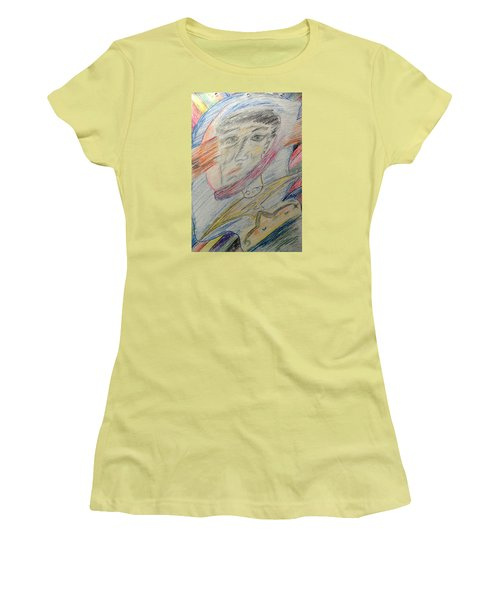 A Man And His Thoughts Women's T-Shirt (Athletic Fit)
