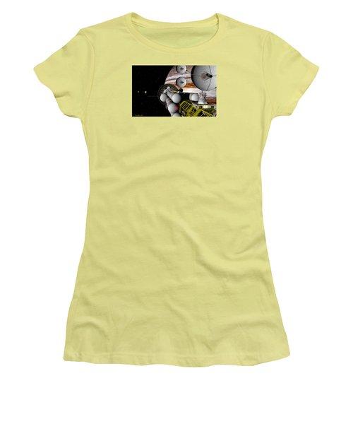 Women's T-Shirt (Junior Cut) featuring the digital art A Message Back Home by David Robinson