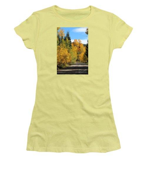 A Miraculous Autumn Vista Iv Women's T-Shirt (Athletic Fit)