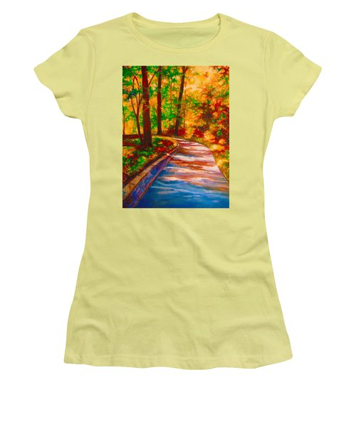 A Morning Walk Women's T-Shirt (Athletic Fit)
