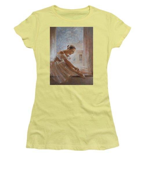 A New Day Ballerina Dance Women's T-Shirt (Junior Cut) by Vali Irina Ciobanu