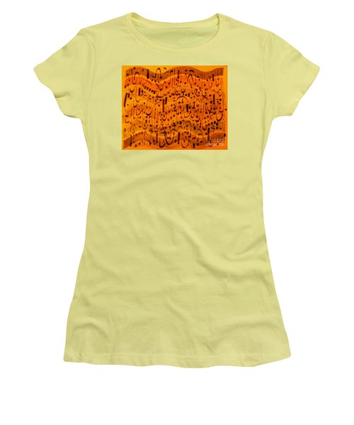 Women's T-Shirt (Junior Cut) featuring the painting A New Song by Nancy Kane Chapman