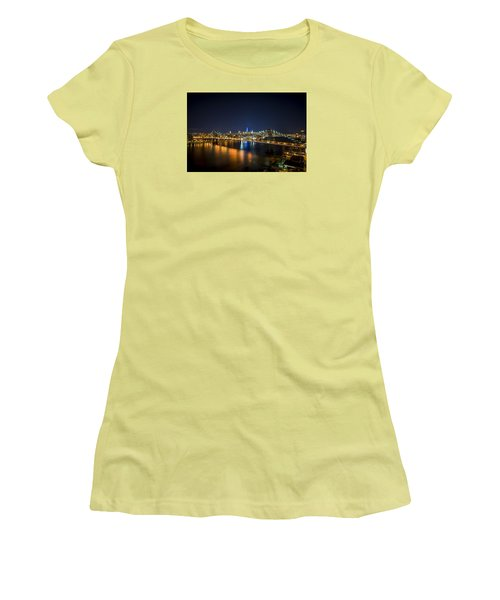 A New York City Night Women's T-Shirt (Athletic Fit)