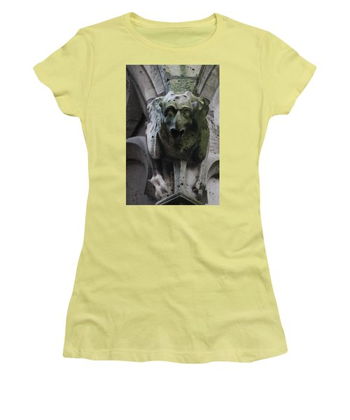 Women's T-Shirt (Junior Cut) featuring the photograph A Notre Dame Griffon by Christopher Kirby