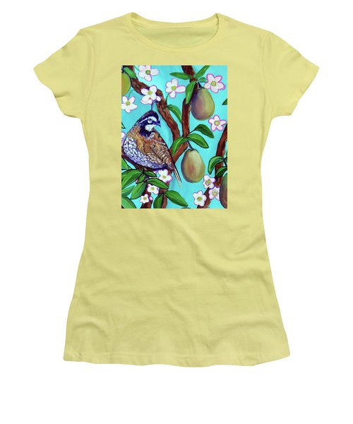 A Partridge In A  Blooming Pear Tree Women's T-Shirt (Athletic Fit)