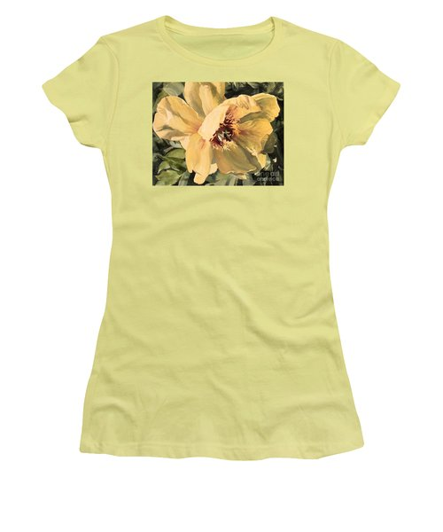 A Peony For Miggie Women's T-Shirt (Junior Cut) by Laurie Rohner
