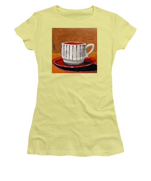 Women's T-Shirt (Junior Cut) featuring the painting A Perfect Cup by John Williams