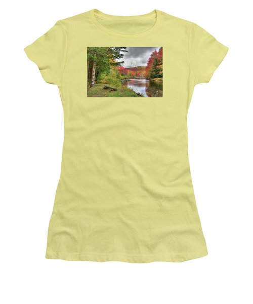 A Place To View Autumn Women's T-Shirt (Junior Cut) by David Patterson