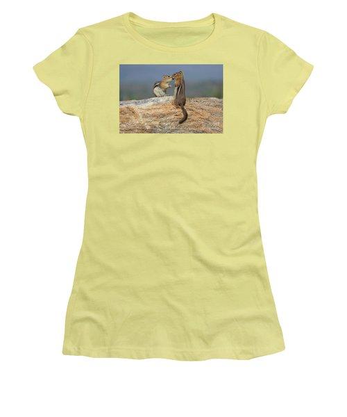 A Quick Kiss Women's T-Shirt (Athletic Fit)
