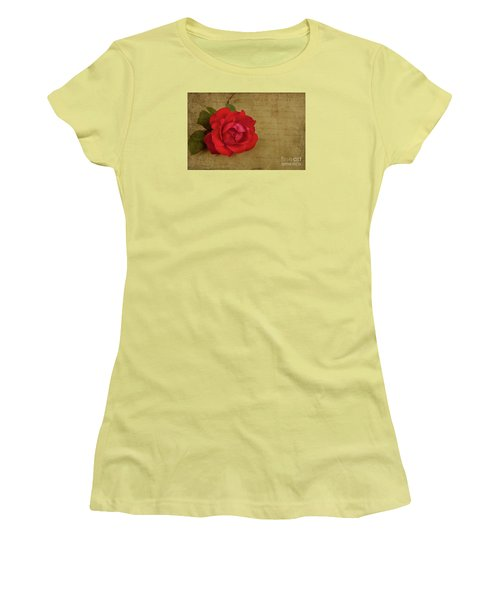 A Rose By Any Other Name Women's T-Shirt (Junior Cut) by Lena Auxier