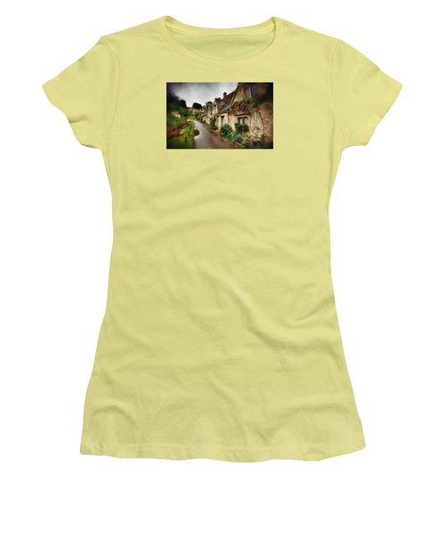 Women's T-Shirt (Junior Cut) featuring the photograph A Stroll Down Memory Lane by Mario Carini