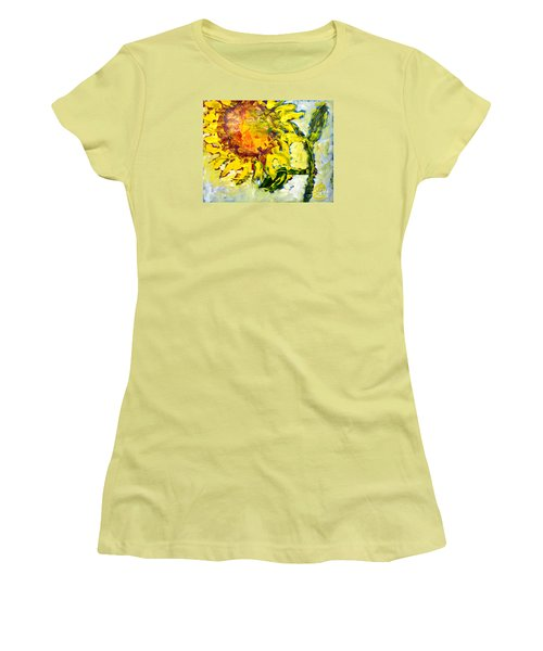 A Sunflower Greeting Women's T-Shirt (Athletic Fit)
