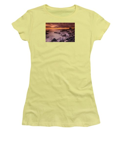 A Sunset At Track Beach Women's T-Shirt (Athletic Fit)