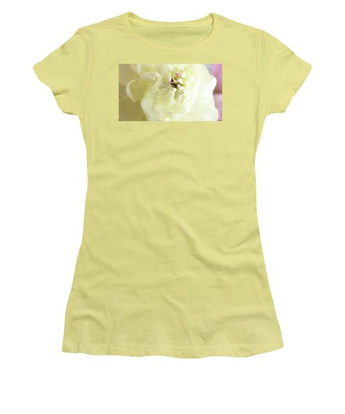 Women's T-Shirt (Athletic Fit) featuring the photograph A Touch Of Pink by Wendy Wilton