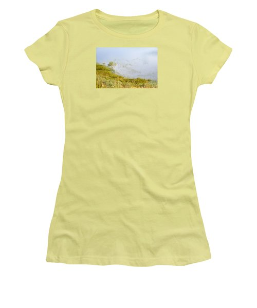 Women's T-Shirt (Junior Cut) featuring the photograph A Tree In The Lake Of The Scottish Highland by Dubi Roman