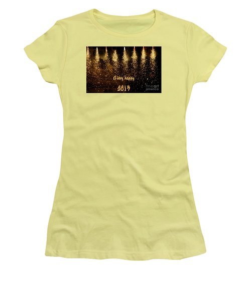A Very Happy 2017 Women's T-Shirt (Junior Cut) by Patricia Hofmeester