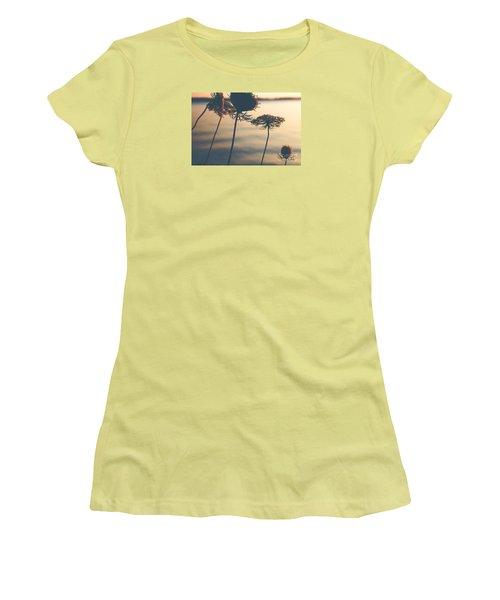 A Vintage Sunset Women's T-Shirt (Junior Cut) by Rebecca Davis