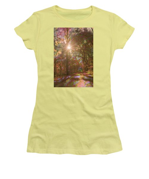 A Walk Through The Rainbow Forest Women's T-Shirt (Athletic Fit)