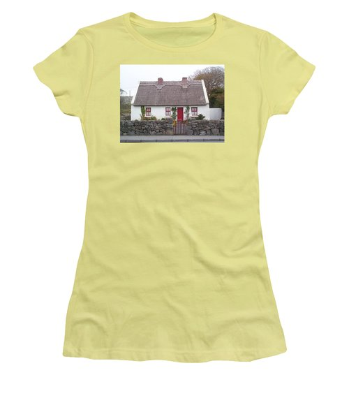 Women's T-Shirt (Athletic Fit) featuring the photograph A Wee Small Cottage by Charles Kraus