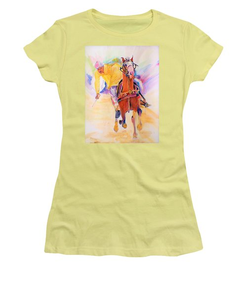 A Win Women's T-Shirt (Junior Cut) by Khalid Saeed