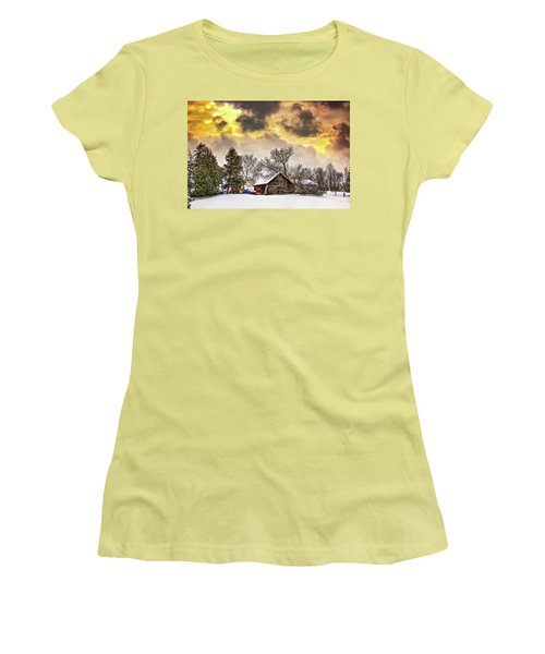 A Winter Sky Women's T-Shirt (Athletic Fit)