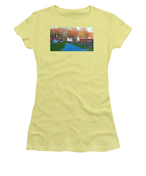 A World With Octobers Women's T-Shirt (Athletic Fit)
