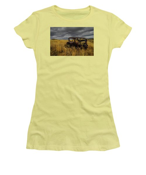 Abandoned Auto Women's T-Shirt (Athletic Fit)