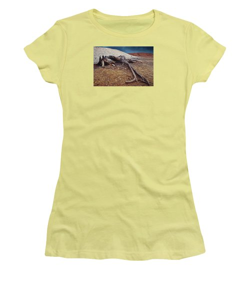 Women's T-Shirt (Junior Cut) featuring the photograph Abandoned Quarry by Vladimir Kholostykh