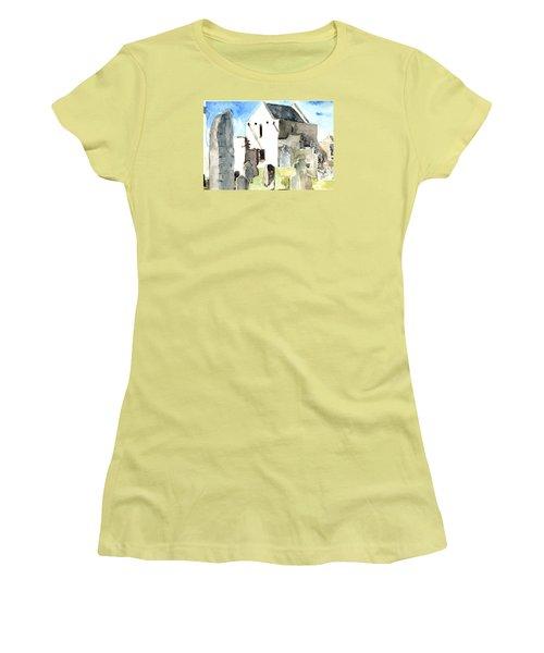 Abbey Watercolor Women's T-Shirt (Athletic Fit)