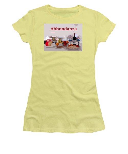 Abbondanza Women's T-Shirt (Junior Cut) by Charles Shoup