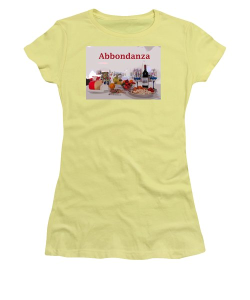 Abbondanza Women's T-Shirt (Junior Cut)
