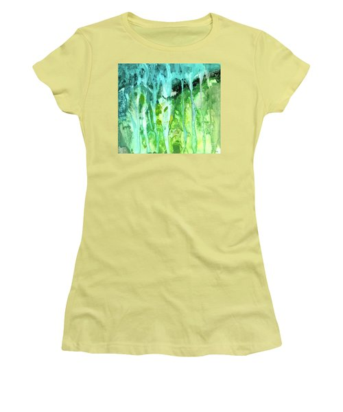 Abstract Art Waterfall Women's T-Shirt (Athletic Fit)