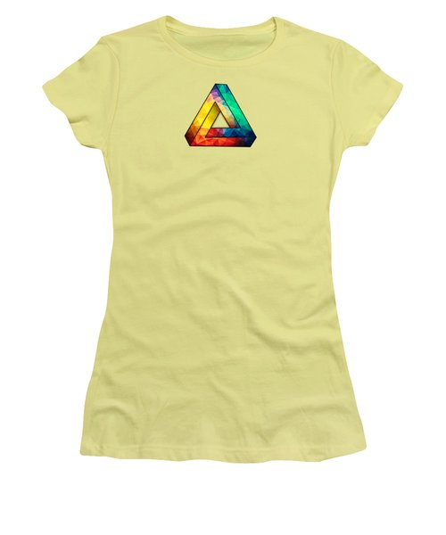 Abstract Color Wave Flash Women's T-Shirt (Athletic Fit)