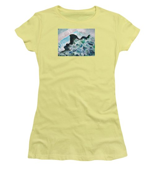 Abstract Crashing Waves Women's T-Shirt (Athletic Fit)