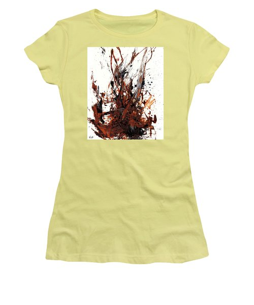 Abstract Expressionism Painting 50.072110 Women's T-Shirt (Junior Cut) by Kris Haas