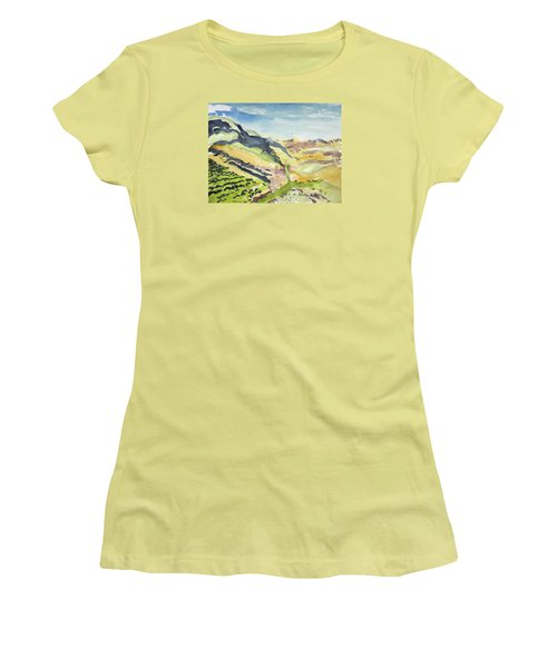 Abstract Hillside Women's T-Shirt (Athletic Fit)