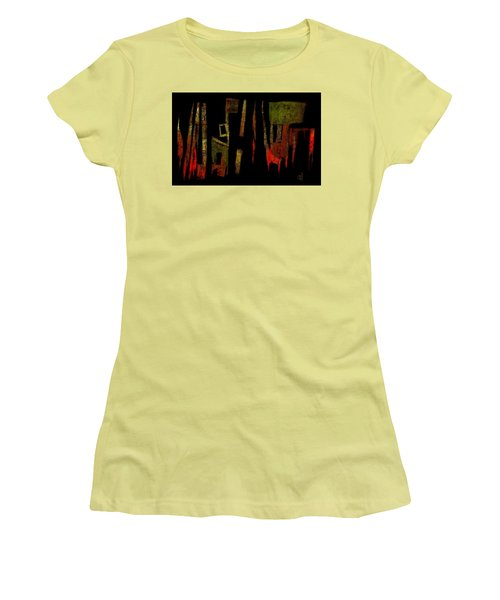 Women's T-Shirt (Junior Cut) featuring the painting Abstract II - 19dec2016 by Jim Vance