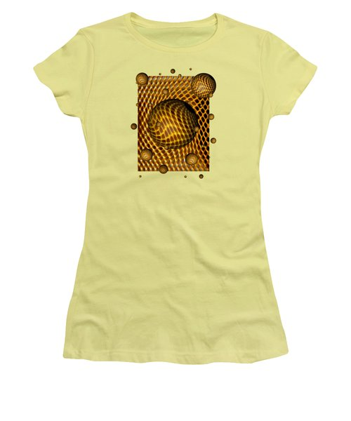 Women's T-Shirt (Junior Cut) featuring the digital art Abstract - Life Grid by Glenn McCarthy Art and Photography