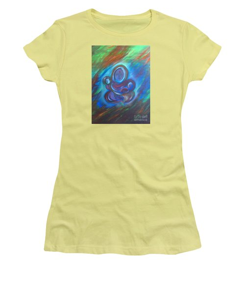Women's T-Shirt (Junior Cut) featuring the painting Abstract Mother by Brindha Naveen