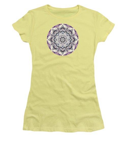 Abstract Octagonal Mandala Women's T-Shirt (Junior Cut) by Phil Perkins