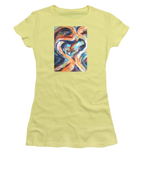 Abstract Of Womb Women's T-Shirt (Athletic Fit)