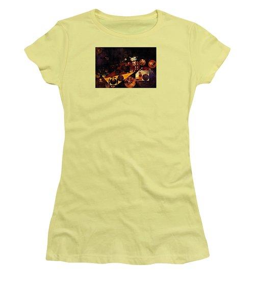 Women's T-Shirt (Junior Cut) featuring the digital art Abstract Painting - Fire Bush by Vitaliy Gladkiy
